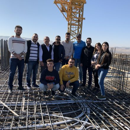 A Group of Civil Engineering Students Had a Field Trip to Qaiwan City and Azadi Steel Manufacturing Company
