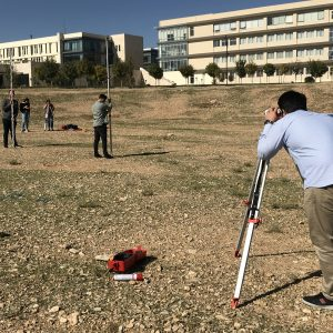 CVE students While Performing A Surveying Experiment on the KUST Campus