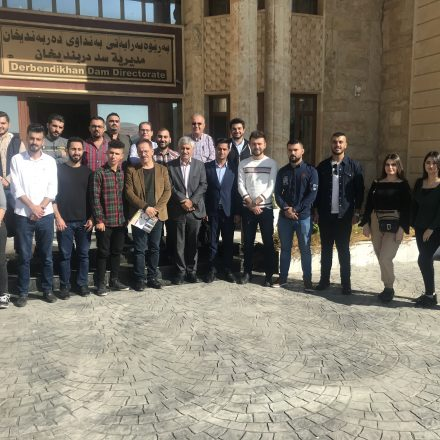 Students from Civil Engineering at Komar University Visited Darbandikhan Dam